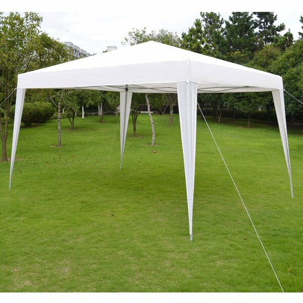 Folding Wedding Camping 10 Ft. W x 13 Ft. D Steel Pop-Up Canopy by Strong Camel