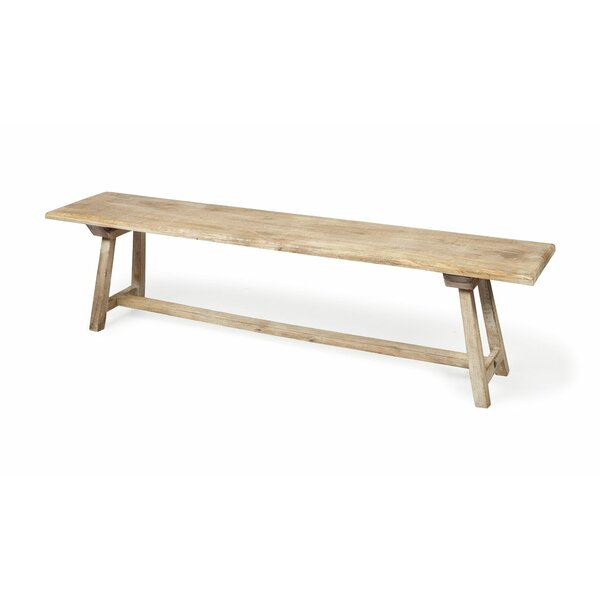 Zoie Travis Wood Bench by Millwood Pines