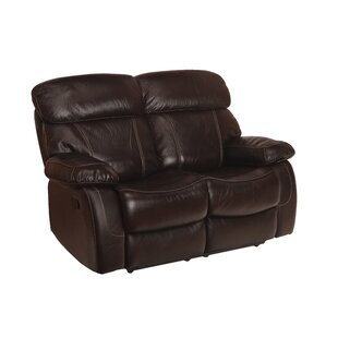 Perryville Leather Reclining Loveseat