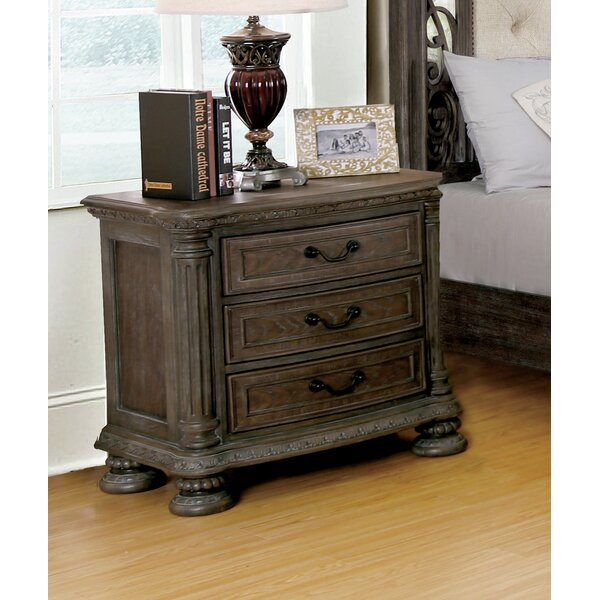 Portsmouth 3 Drawer Nightstand by One Allium Way