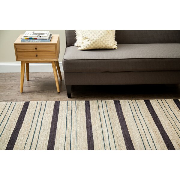 Griswold Hand-Woven Beige/Black Area Rug by George Oliver