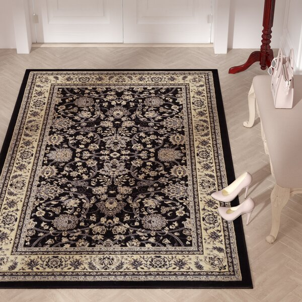 Essehoul Black Area Rug by World Menagerie
