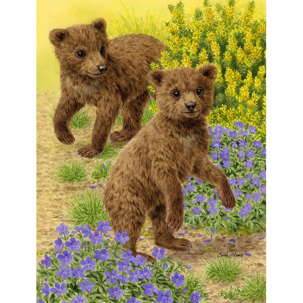 Bear Cubs Vertical Flag by Caroline's Treasures
