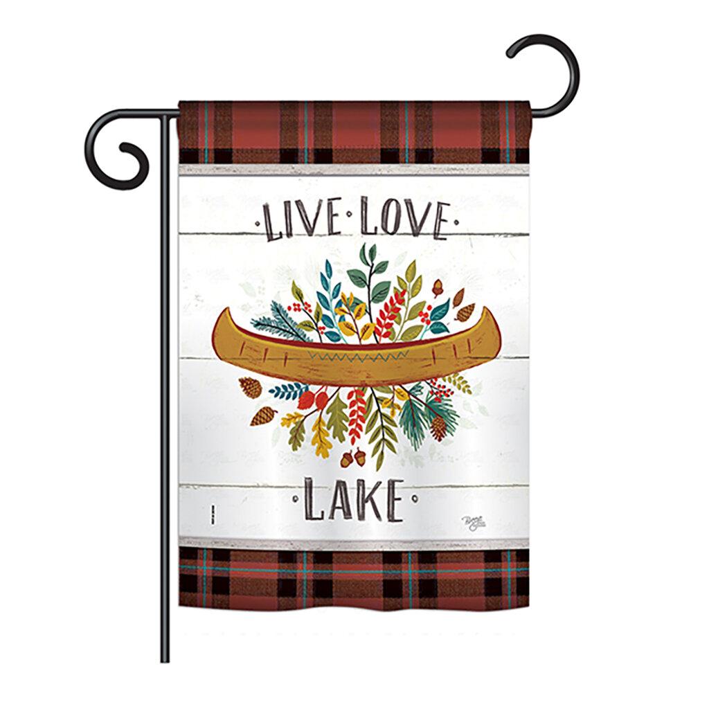 Breeze Decor Live Love Lake 2 Sided Polyester 18 5 X 13 In Garden Flag Wayfair