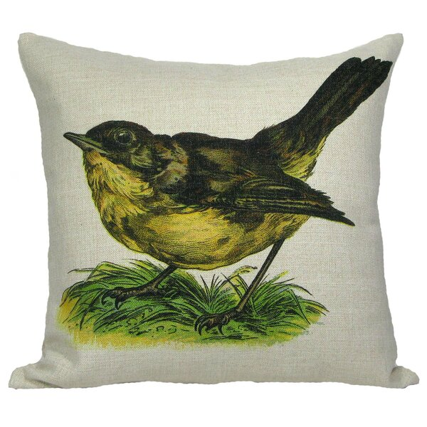 Wren Throw Pillow by Golden Hill Studio