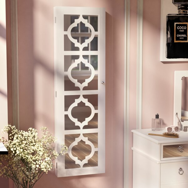 Harlesden Wall Mounted Jewelry Armoire with Mirror by Willa Arlo Interiors