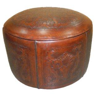 Navarette Leather Pouf by Astoria Grand