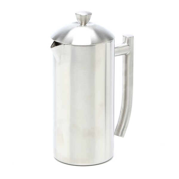 Brushed Stainless Steel French Press by Frieling