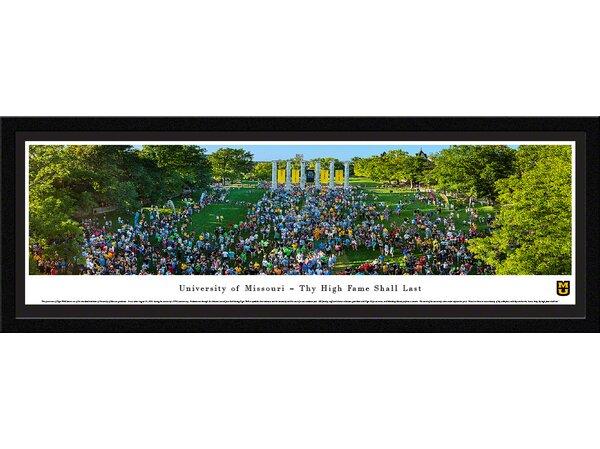 NCAA Missouri, University of - Tiger Walk Framed Photographic Print by Blakeway Worldwide Panoramas, Inc