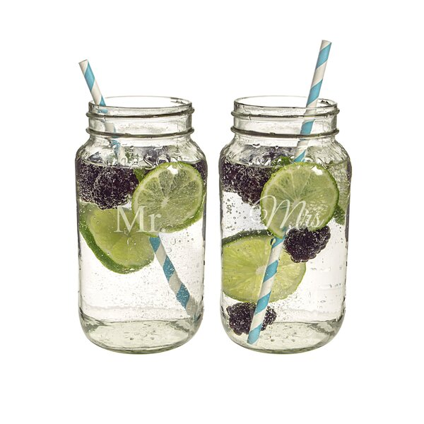 Mr. and Mrs. 26-oz. Ball Jar (Set of 2) by Cathys Concepts