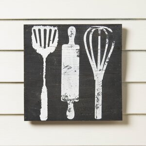 Reclaimed Wood Utensils Print by Birch Lane™