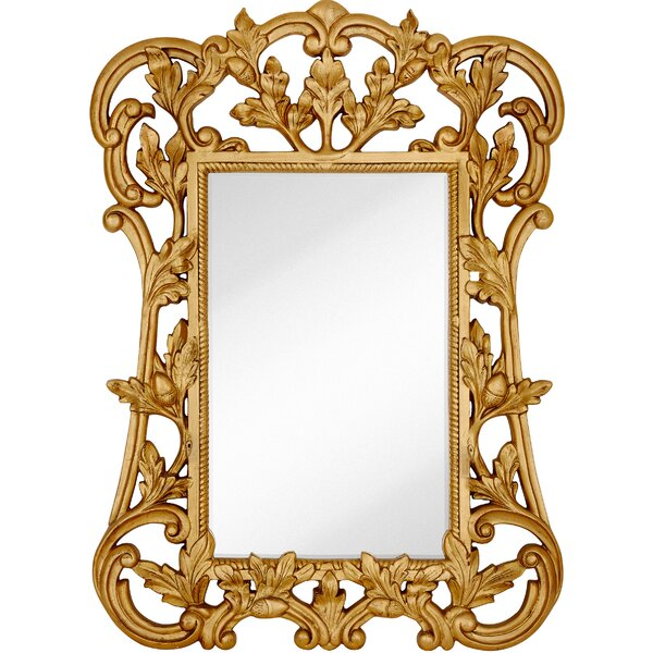 Oversized Traditional Rectangular Gold Leaf Beveled Glass Wall Mirror by Majestic Mirror