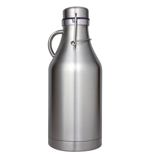 Grizzly Double Wall Flip Top Beer 32 Oz Growler by Kegco