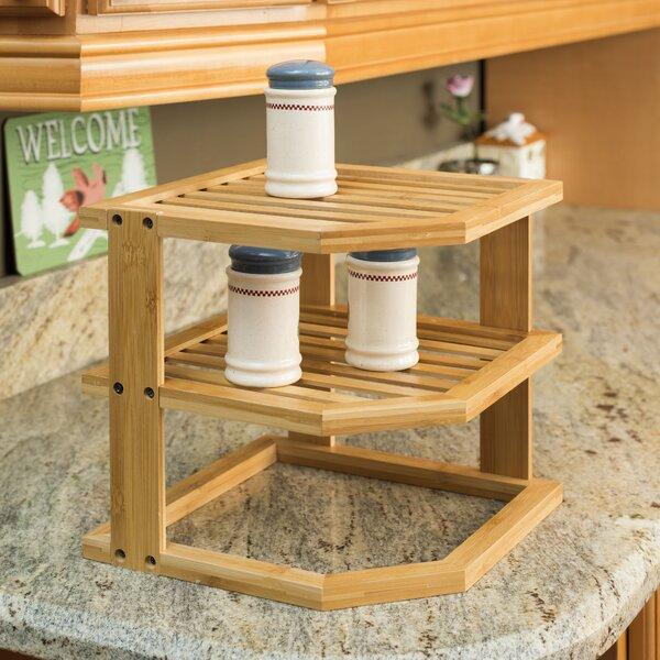 3-Tier Bamboo Multi-Purpose Corner Unit Bookcase by Home Basics