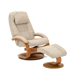 Flathead Lake Teatro Manual Swivel Glider Recliner With Ottoman by Red Barrel Studio