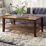 Athena Solid Wood Coffee Table with Storage by Laurel Foundry Modern Farmhouse
