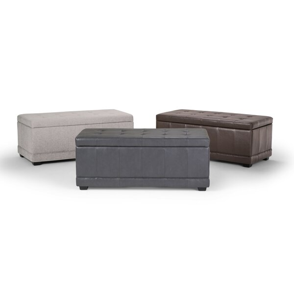 Alta Faux Leather Storage Bench by Alcott Hill