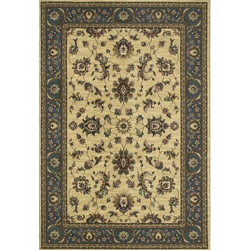 Shelburne Traditional Ivory/Blue Area Rug by Astoria Grand