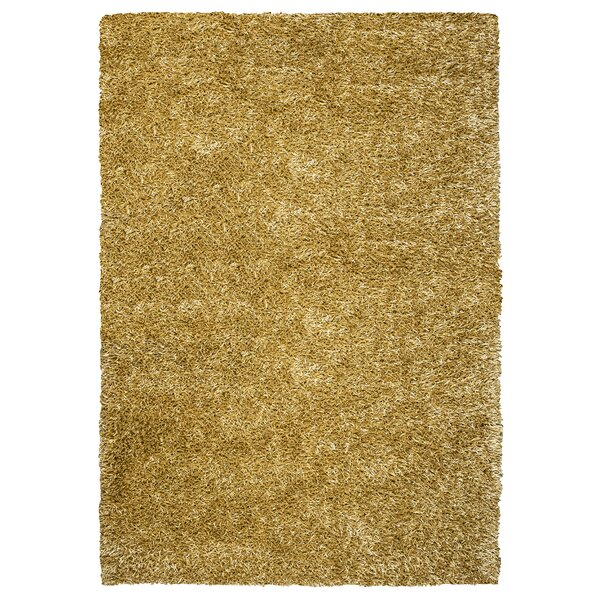 Hand-Tufted Gold/Yellow Area Rug by The Conestoga Trading Co.