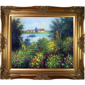 Flowers at Vetheuil by Claude Monet Framed Painting Print by Tori Home
