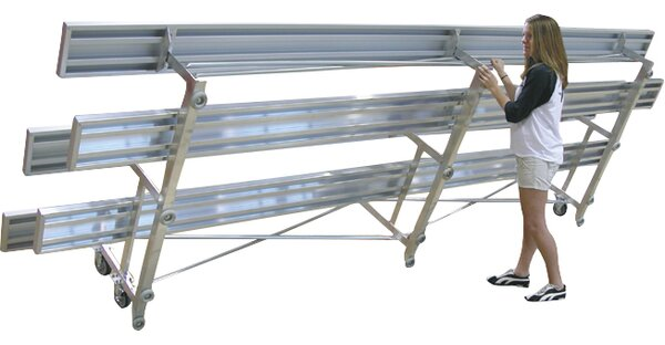 Tip N Roll Three-Row Aluminum Bleacher by Ultra Play