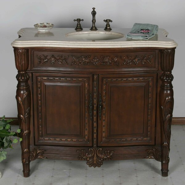 Galloway 42 Single Bathroom Vanity Set by B&I Direct Imports