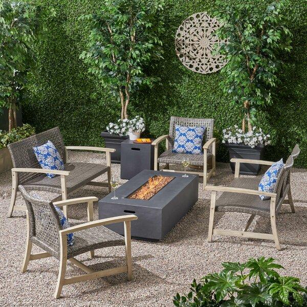 Kampmann 6 Piece Sofa Seating Group by Bungalow Rose Bungalow Rose