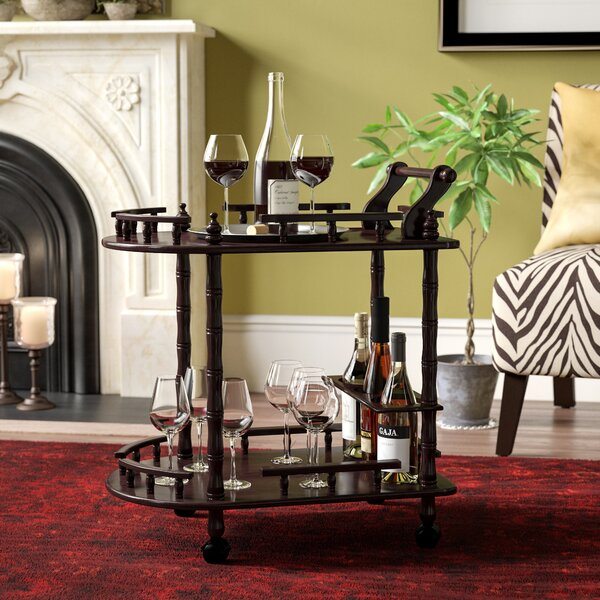 Zabala 2 Tier Wine Bar Cart by World Menagerie World Menagerie