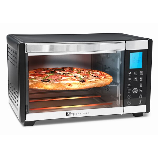 6 Slice Platinum Convection Toaster Oven by Elite by Maxi-Matic