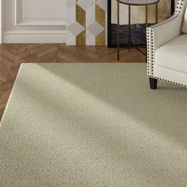 Avillion Hand-Tufted Wool Ivory Area Rug by House of Hampton