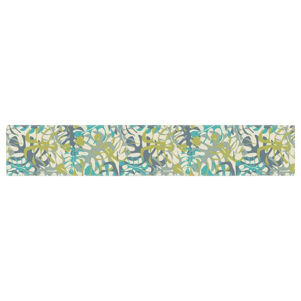 Julia Grifol Tropical Leaves Table Runner by East Urban Home