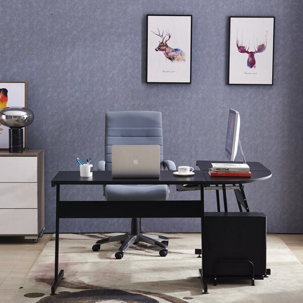 Menahga Corner L Shaped Executive Desk by Latitude Run