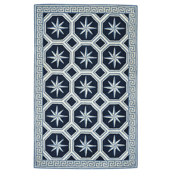 Wieland Hand-Tufted Blue Area Rug by Breakwater Bay