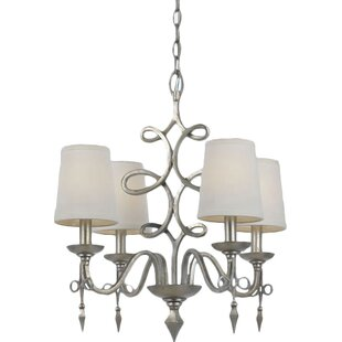 4-Light Shaded Chandelier by AF Lighting