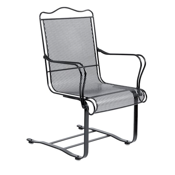 Tucson High Back Spring Base Patio Chair by Woodard