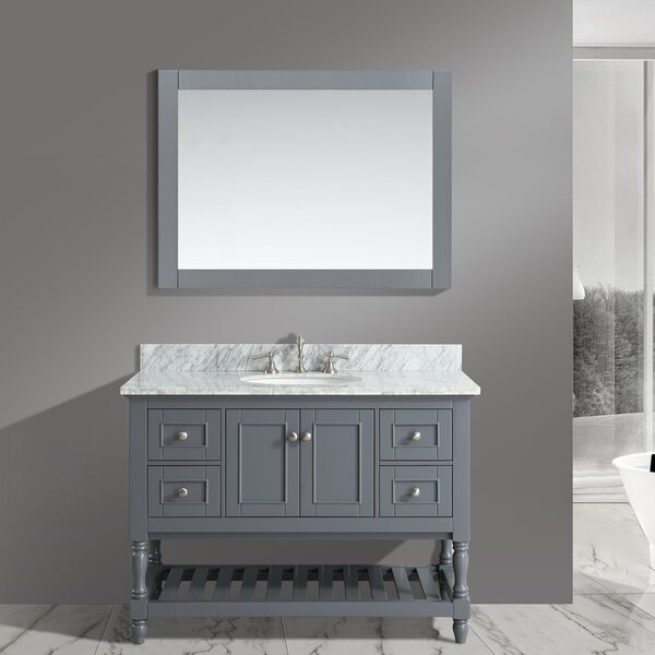 Mccombs 48 Single Bathroom Vanity Set with Mirror
