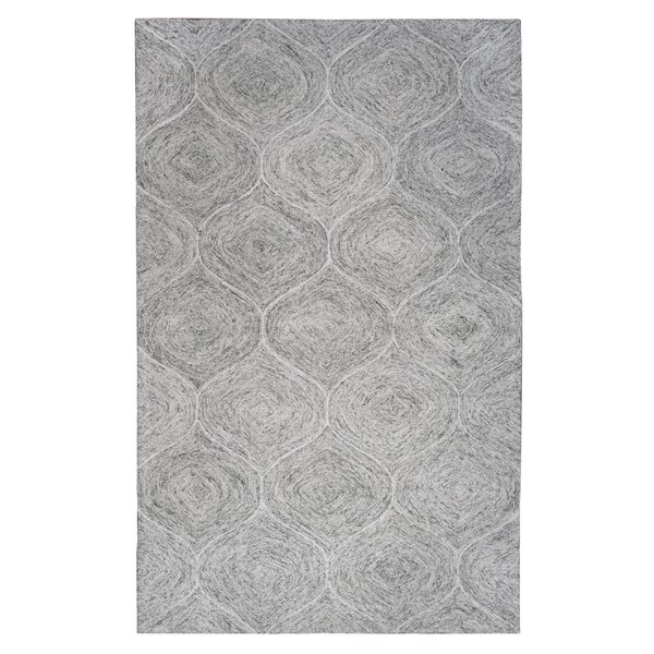 Marsh Hand-Tufted Gray Area Rug by Gracie Oaks