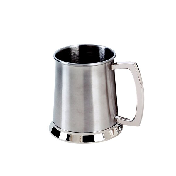 20 Oz. Bright Stainless Steel Tankard by Creative Gifts International
