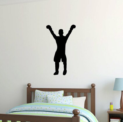 Wilbert Boxer Boxing Silhouette Wall Decal by Zoomie Kids
