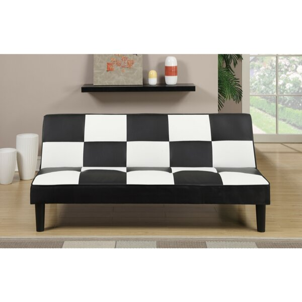 Chavis Faux Leather Adjustable Convertible Sofa by Ebern Designs