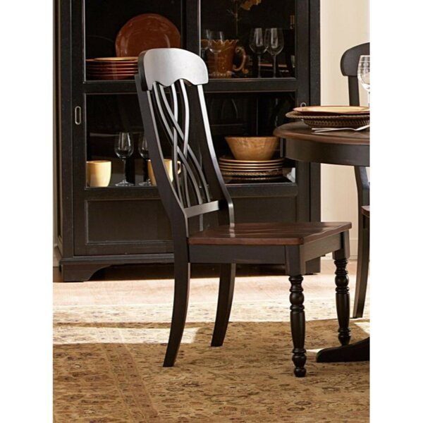 Beaudoin Solid Wood Dining Chair (Set of 2) by Darby Home Co