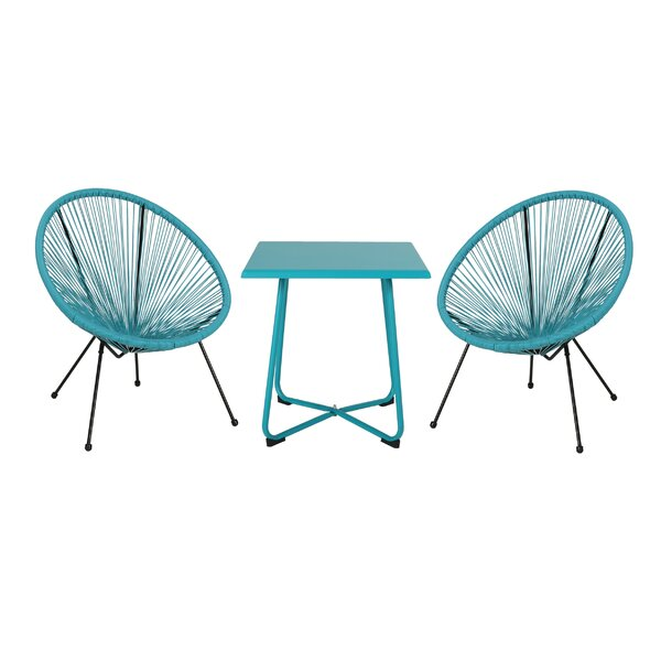 Josephson Outdoor Woven Rattan Seating Group by Wrought Studio