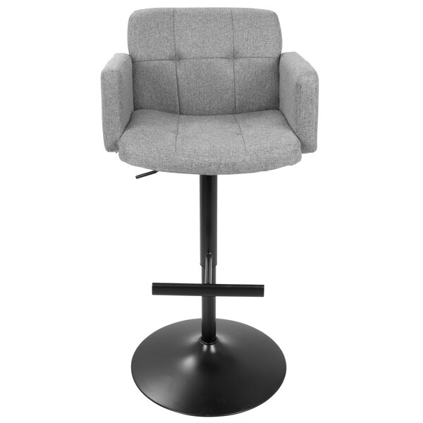 Earleville Adjustable Height Swivel Bar Stool by Wade Logan