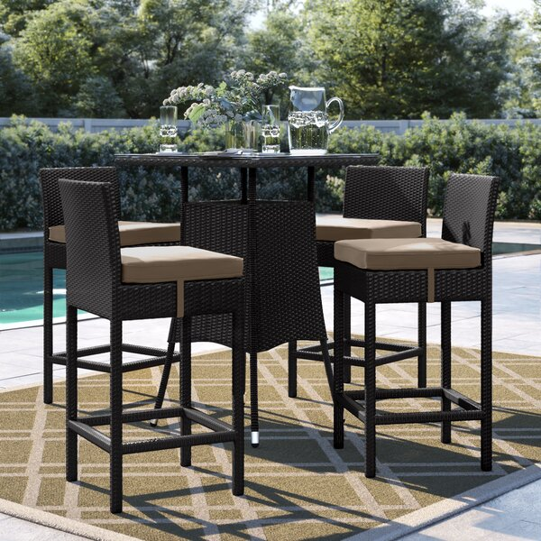 Brentwood 5 Piece Bar Height Dining Set With Cushions By Sol 72 Outdoor by Sol 72 Outdoor Fresh
