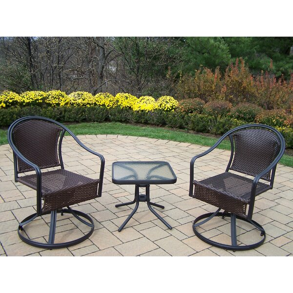 Tuscany Swivel Patio Dining Chair (Set of 2) by Oakland Living