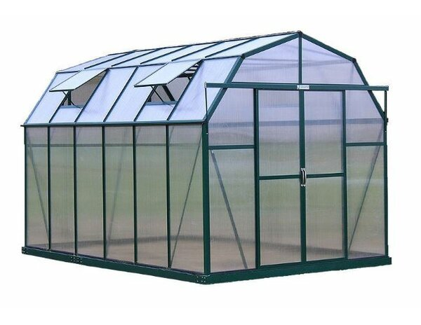 Elite Heavy-Duty Aluminum 8 Ft. W x 12 Ft. D Greenhouse by Grandio Greenhouses