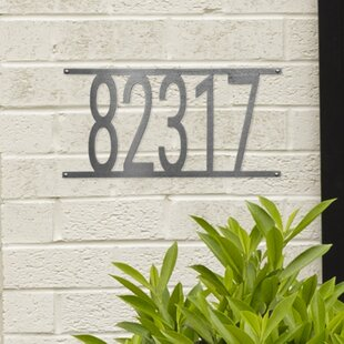 Modern Contemporary Address Plaques Signs Free Shipping Over 35 Wayfair