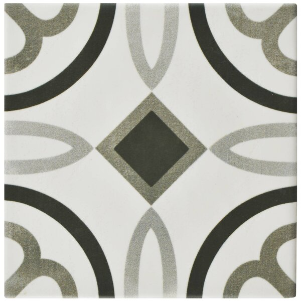 Haute 5.88 x 5.88 Ceramic Field Tile in Gray/White by EliteTile