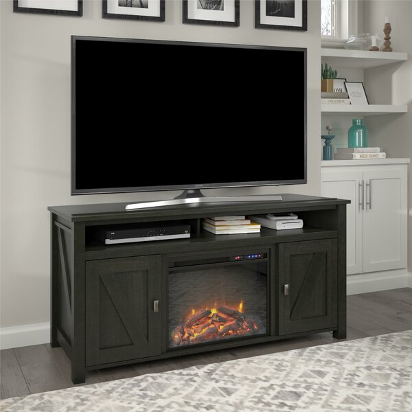 Best Reviews Whittier TV Stand for TVs up to 60 with Electric Fireplace Included by Mistana