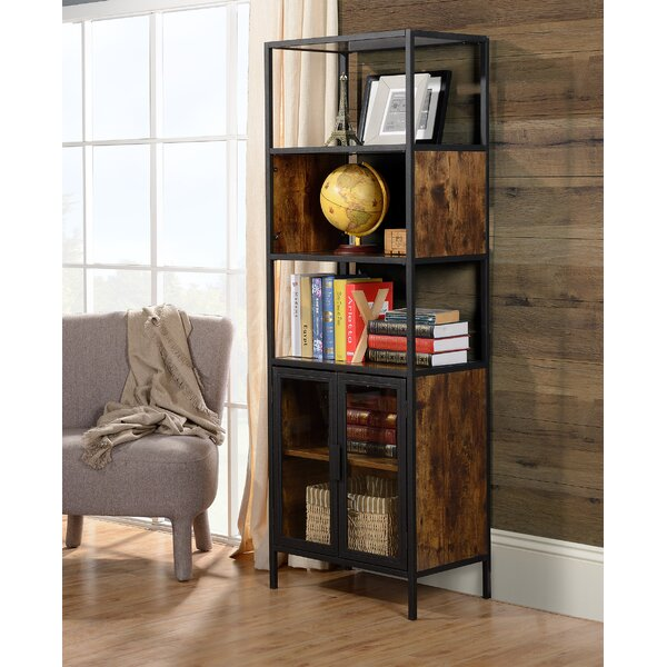 Nena Metal and Wood Display Stand with Glass Door by Ivy Bronx